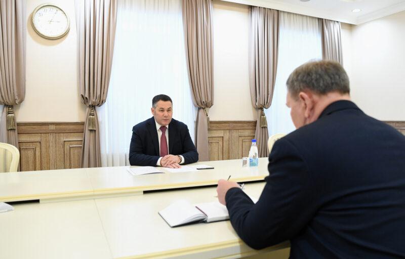 Игорь Руденя провел встречу с главой Молоковского района