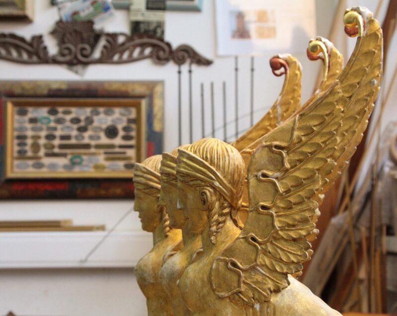 Столичная мастерская реставрации предметов интерьера приняла в работу экспонаты Тверского Императорского путевого дворца