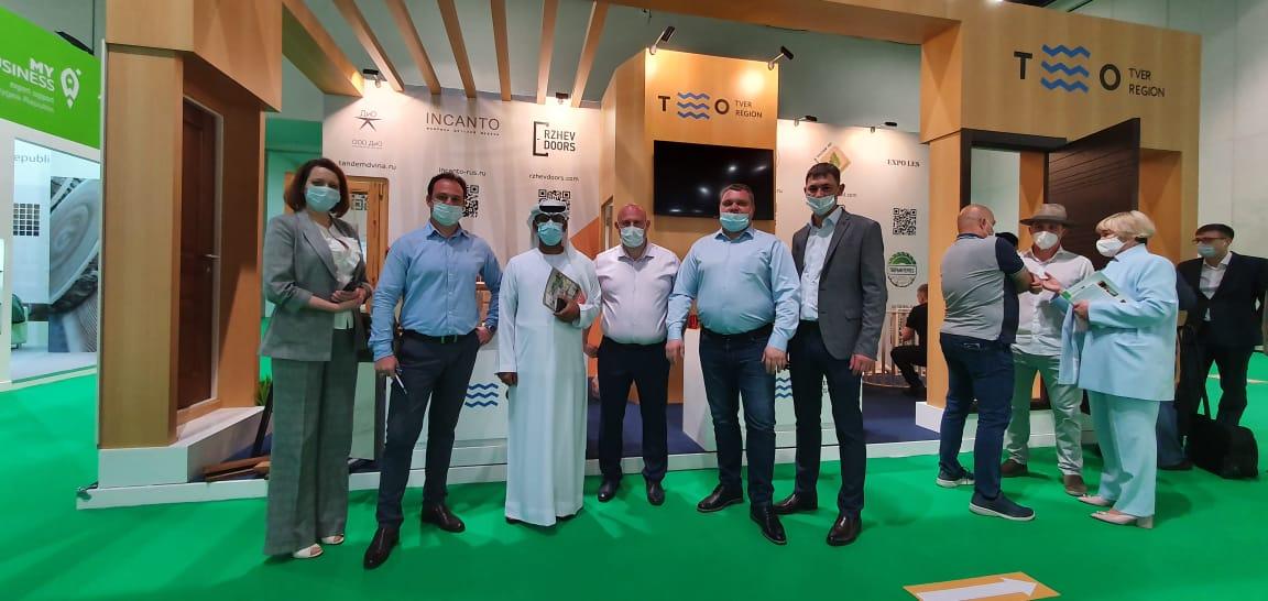 Предприниматели Тверской области проводят переговоры о сотрудничестве с рядом арабских компаний на выставке Dubai WoodShow 2021