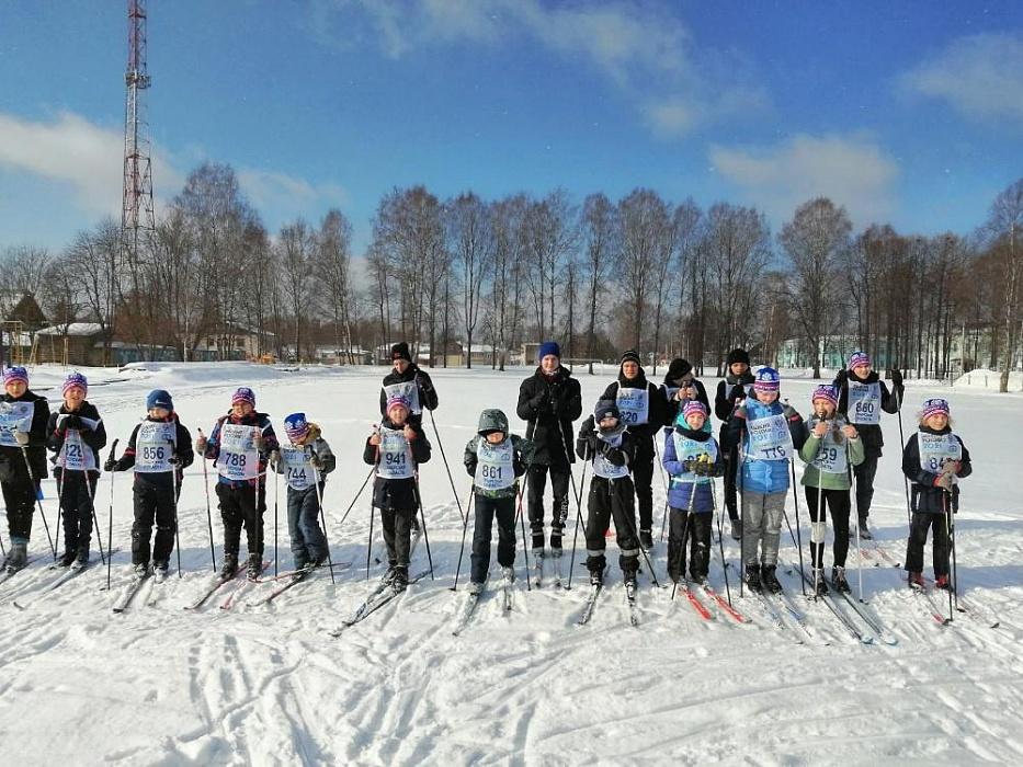 Жители Сандово приняли участие в лыжной гонке