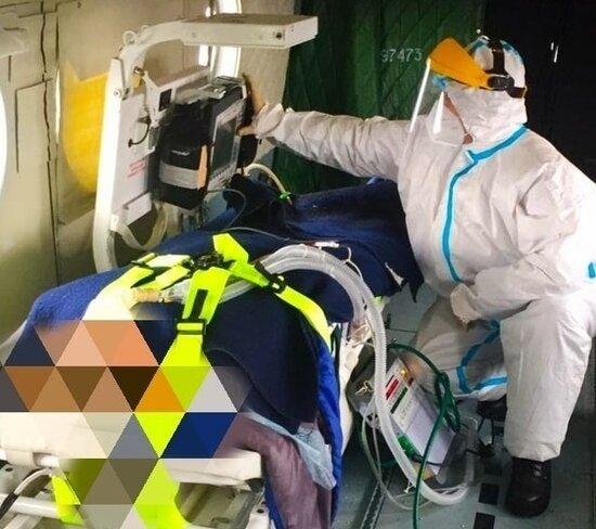 Женщину с тяжелой формой коронавируса госпитализировали из области в Тверь на вертолёте
