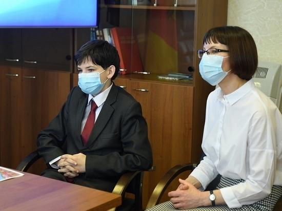 Тверской школьник предоставил проект благоустройства Твери на приеме у губернатора
