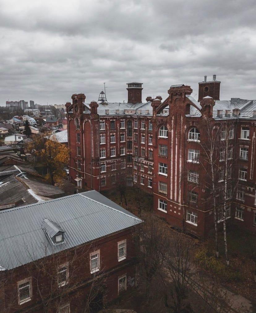Блогер запечатлел Морозовский городок с высоты птичьего полета