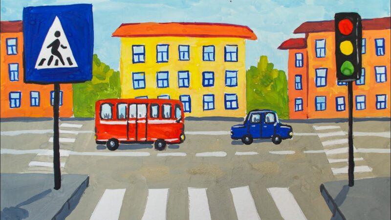 Юные жители Твери примут участие в конкурсе рисунков по правилам дорожного движения