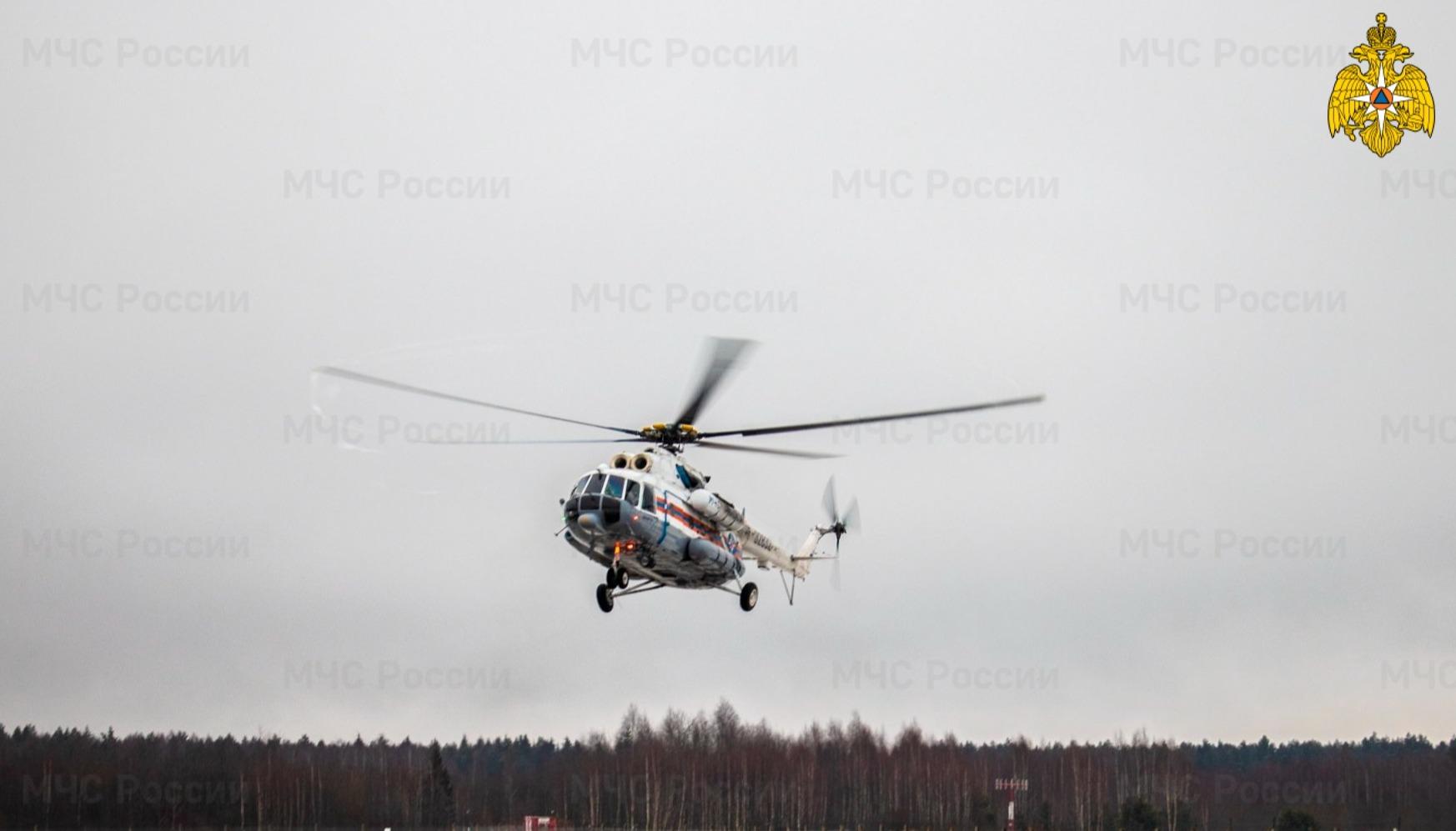 Тверскую пациентку доставили на вертолете в Санкт-Петербург