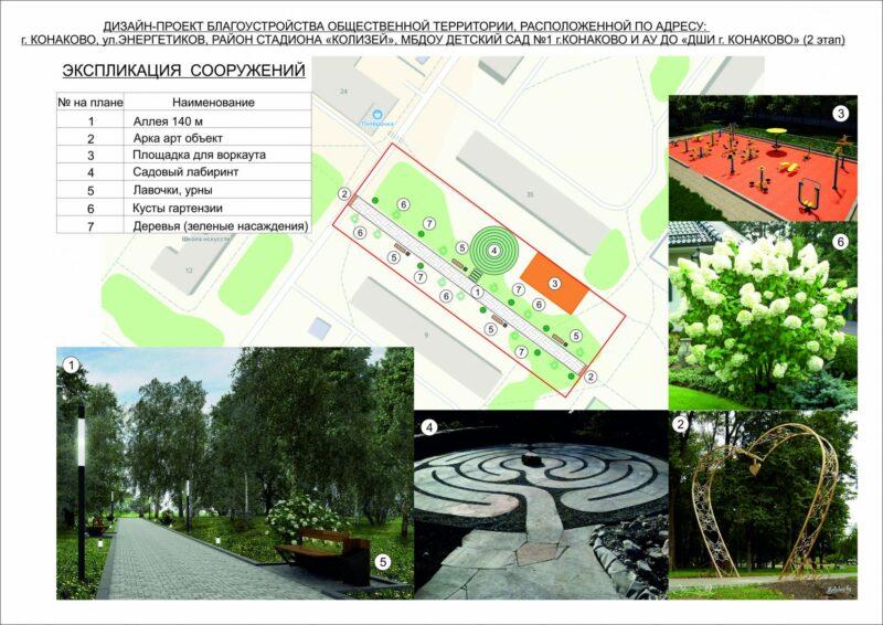 Два проекта представят на голосование жителям Конаково Тверской области для выбора объектов благоустройства в 2022 году