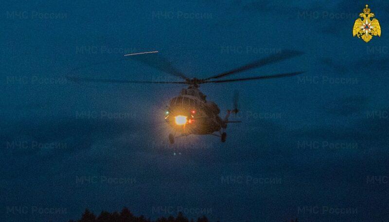 Вертолет санавиации доставил пациента из Западной Двины в Тверь