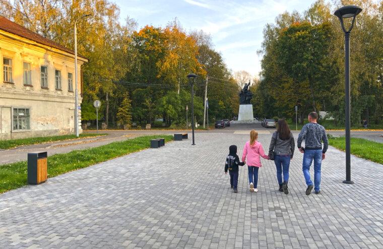 В Осташкове три пешеходные зоны претендуют на благоустройство в 2022 году