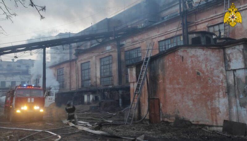 В Тверской области произошел пожар на предприятии
