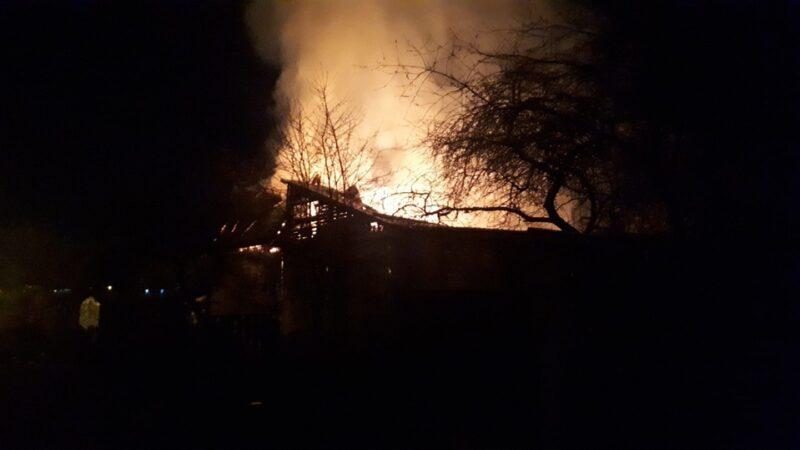 В Твери сгорел дом