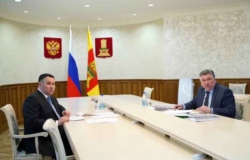 Игорь Руденя и Алексей Огоньков обсудили ремонт тверских дорог