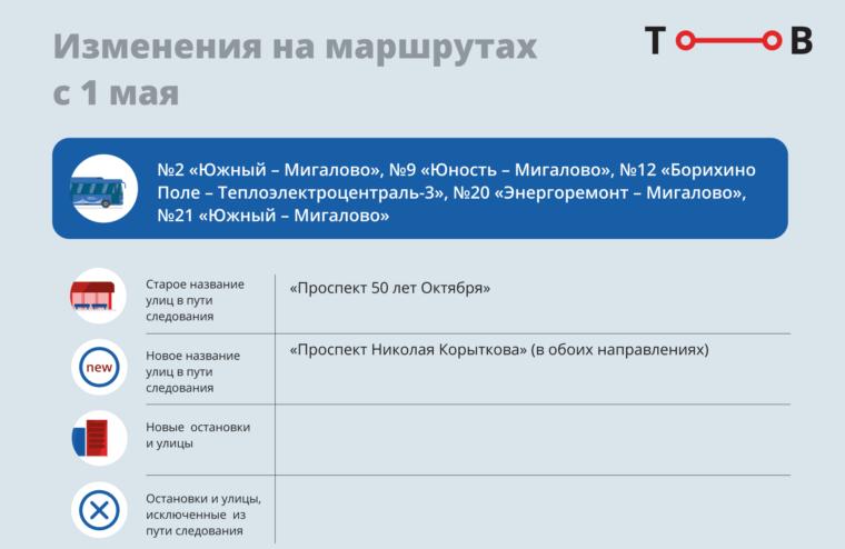 С 1 мая в Твери появятся новые остановки общественного транспорта
