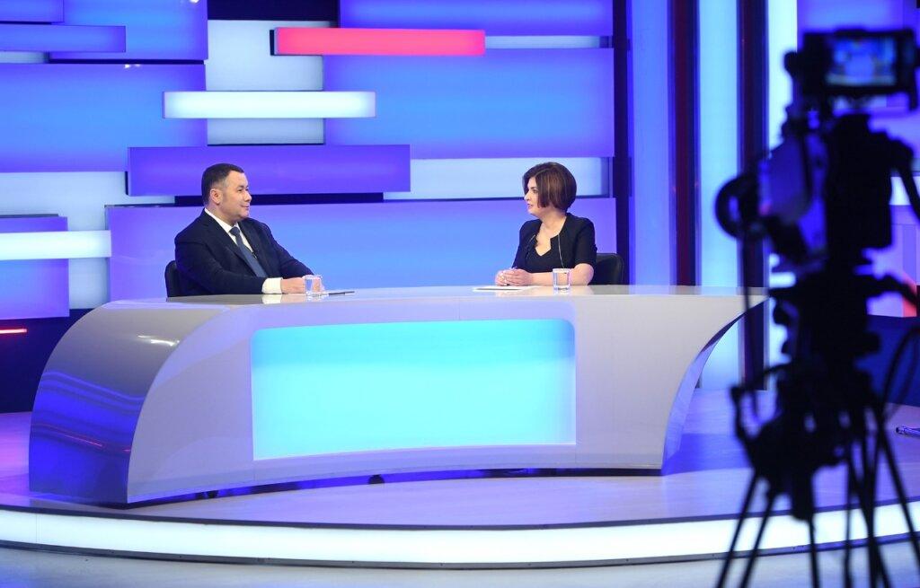 Развитие, вагоны и футбол: о чём говорил Игорь Руденя в прямом эфире