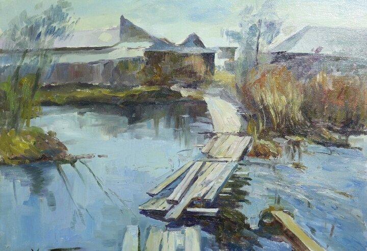 В Андреаполе член союза художников России подарил свои произведения местному музею