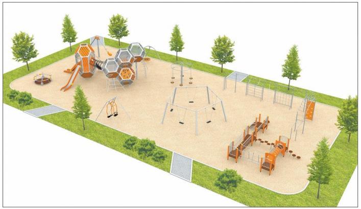 Жителям города Конаково показали макет новой детской зоны