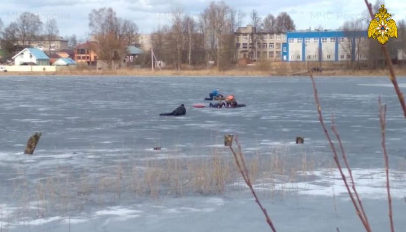 В Тверской области двое детей провалились под лёд озера