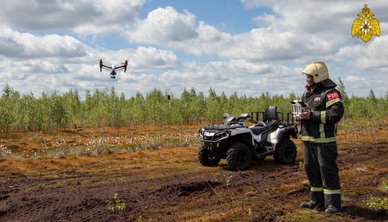 В Тверской области МЧС провели проверку торфяных месторождений