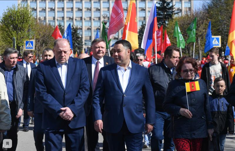 В праздник Весны и Труда жители Тверской области услышали поздравление от Игоря Рудени