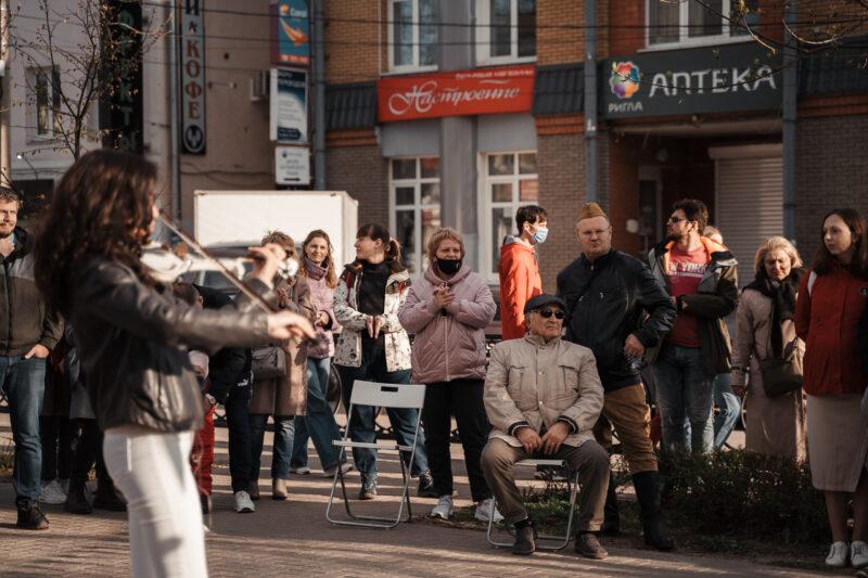 В Твери на бульваре Радищева прошел праздничный концерт