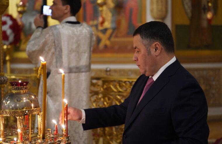 Как встречал светлый праздник Пасхи Игорь Руденя