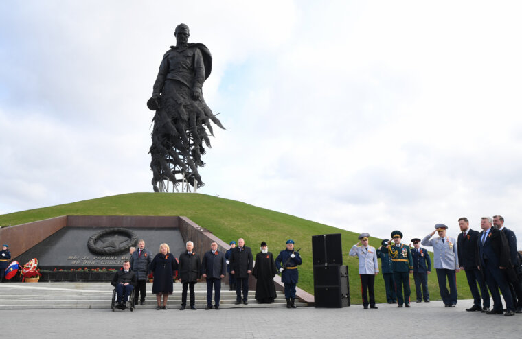 Торжества в Тверской области в честь Дня Победы начались возле Ржевского мемориала
