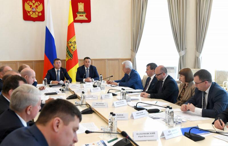Вице-премьер Александр Новак и губернатор Игорь Руденя провели совещание по газификации Тверской области