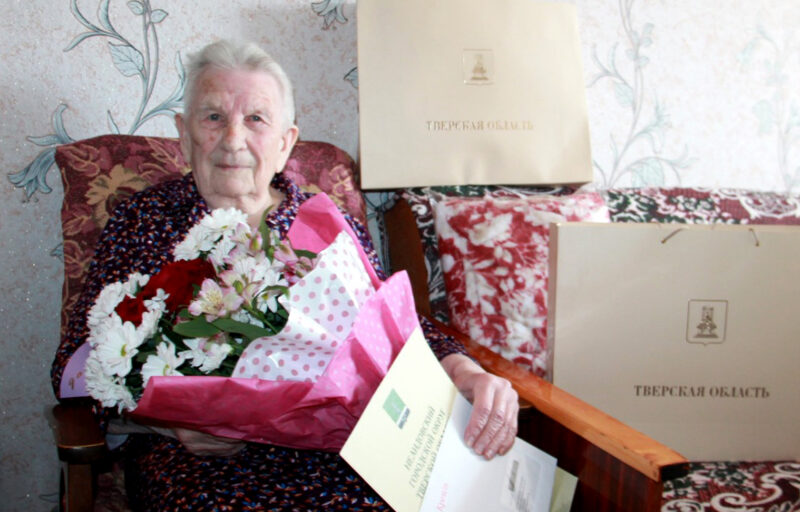 Игорь Руденя поздравил со столетием ветерана Великой Отечественной войны, труженицу тыла Зинаиду Ильиничну Лопуха