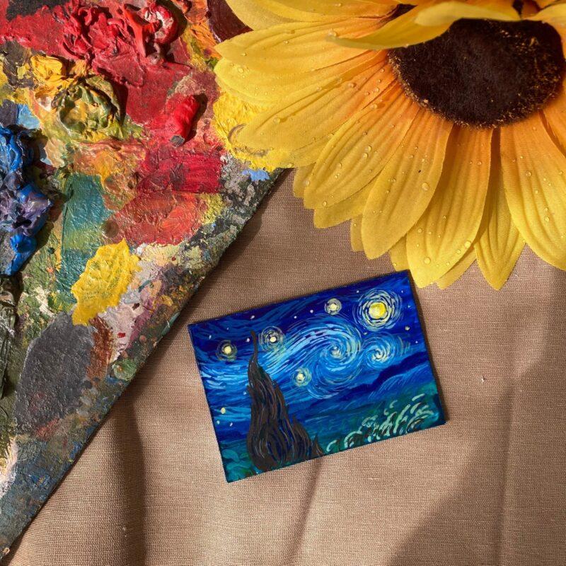 """Жители Твери в """"Ночь музеев"""" создадут пейзаж по мотивам известной картины Ван Гога"""