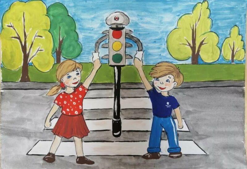 Дети и подростки Верхневолжья могут принять участие в конкурсе рисунков на тему профилактики ДТП