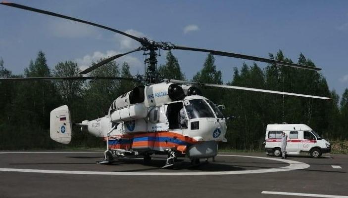 Вертолет КА-32 совершил санитарный вылет в Нелидовский городской округ