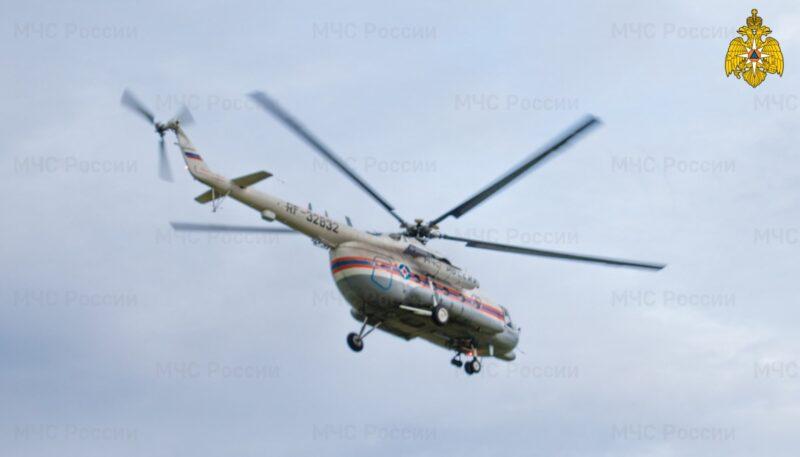 Тверские сотрудники МЧС вылетели на вертолете для транспортировки пациента из Кимр