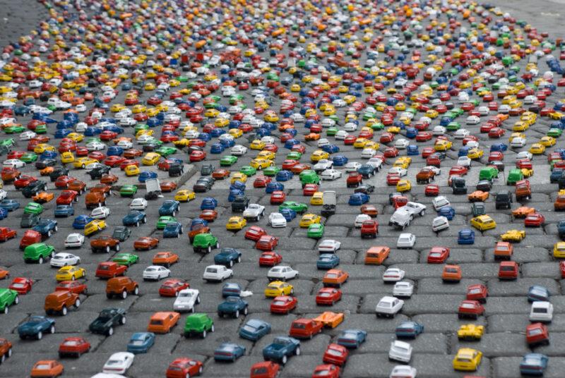 Ремонт дороги в Твери стал причиной огромной пробки