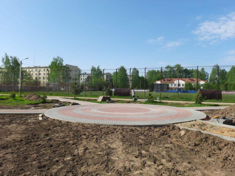 На территориях для благоустройства в Тверской области продолжаются работы