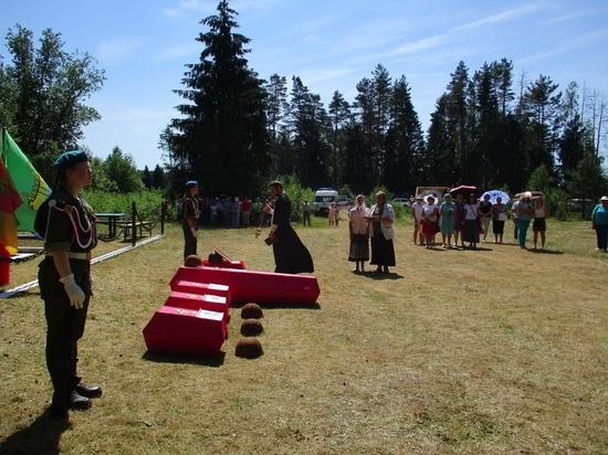 В Андреаполе перезахоронили останки павших красноармейцев