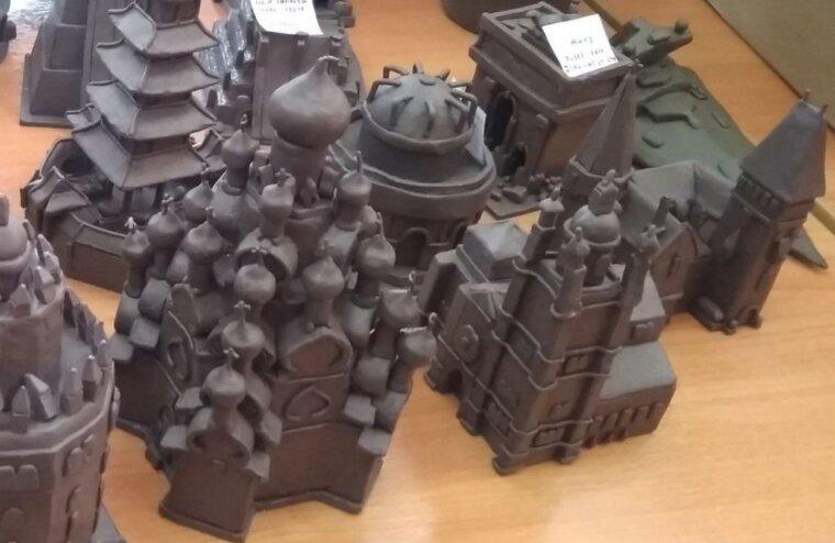 Жители Твери могут увидеть миниатюрные архитектурные модели из пластилина