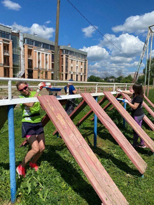 Тверские спортсмены благоустроили одну из главных спортивных площадок города