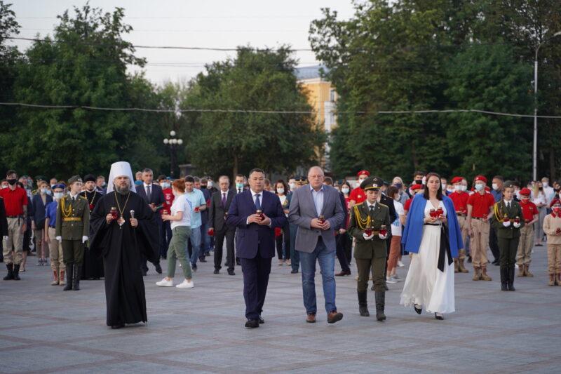 22 июня в час начала Великой Отечественной войны в Твери провели акцию «Свеча памяти»