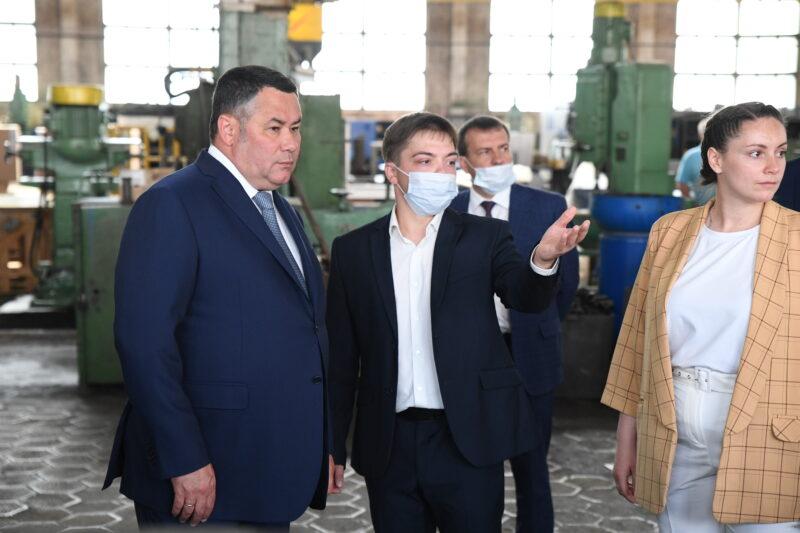 Игорь Руденя ознакомился с работой Бежецкого завода «Автоспецоборудование»