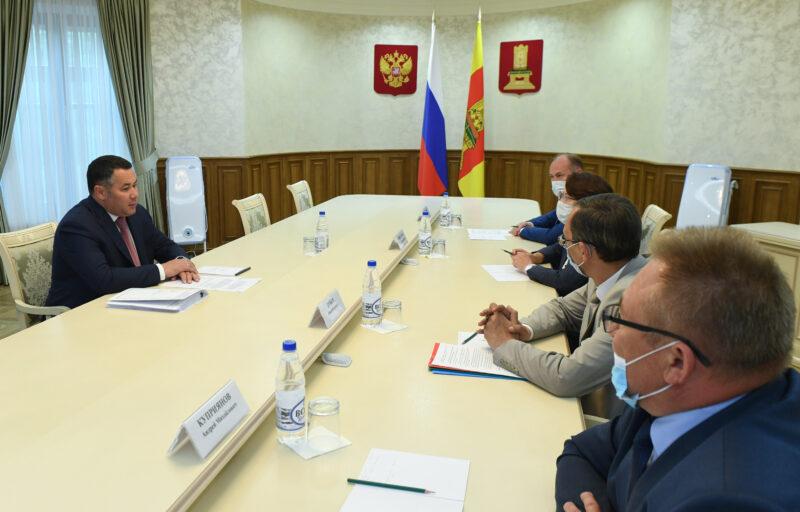 Игорь Руденя провел рабочие встречи с главами четырех районов