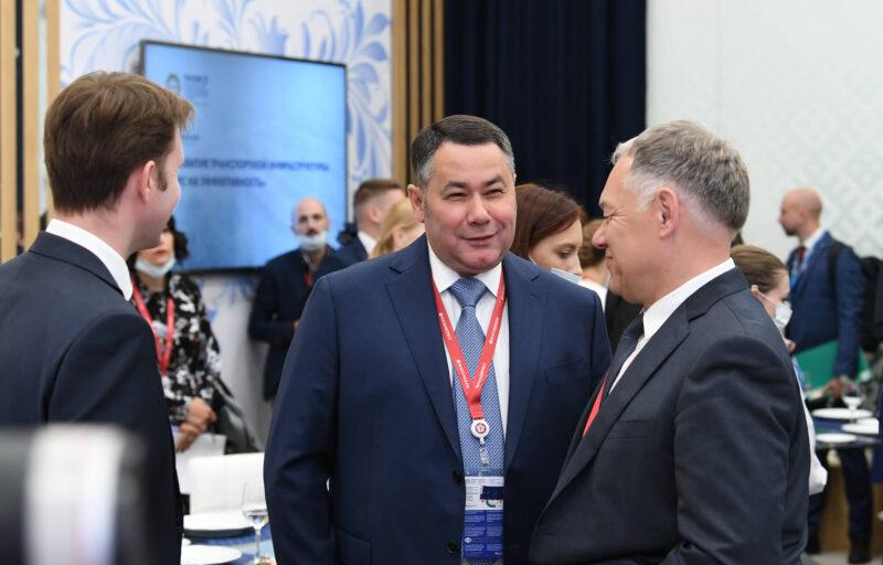 Игорь Руденя выступил с программой развития транспортной инфраструктуры Верхневолжья на международном форуме в Санкт-Петербурге