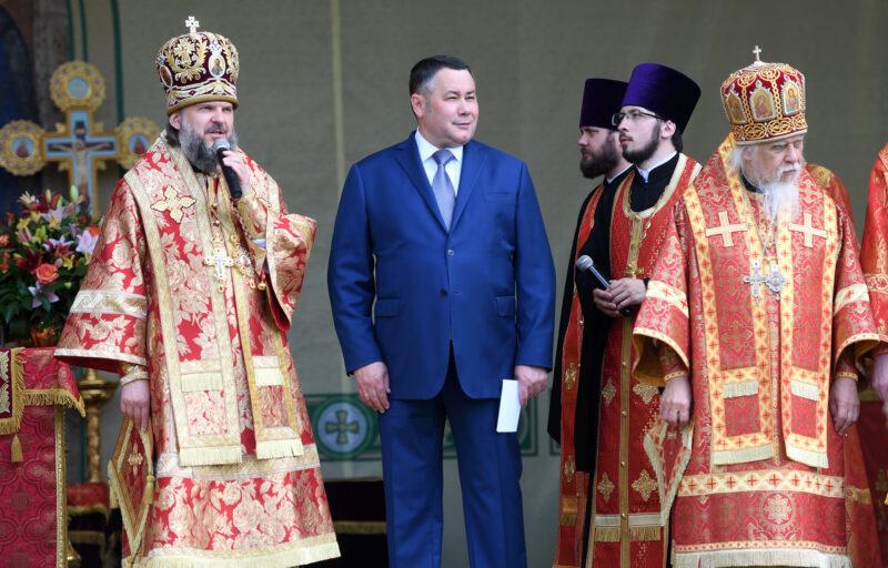На торжества в честь 500-летия обретения мощей Макария Калязинского прибыл Игорь Руденя