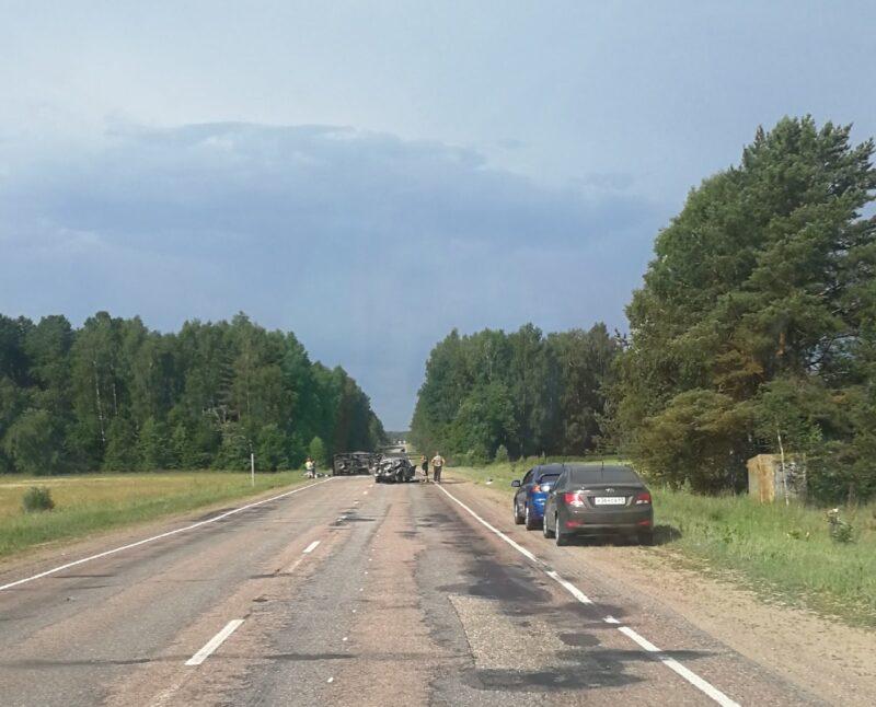 На Старицком шоссе в Тверской области произошла авария