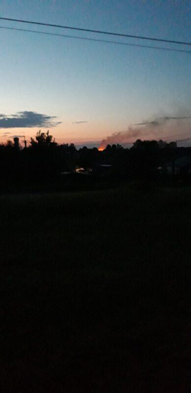 В Тверской области ночью загорелся дом