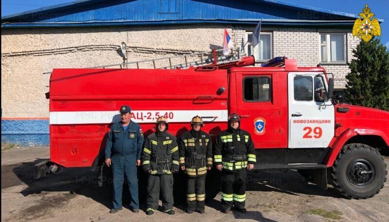 В Тверской области пожарные спасли взрослого и ребенка