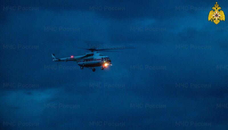 В Тверскую больницу на вертолете экстренно доставили пациента из города Нелидово