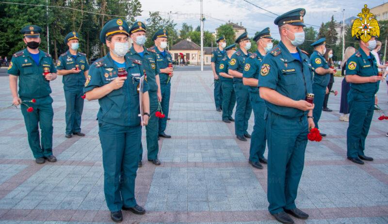 Пожарно-спасательные службы Твери приняли участие в патриотическом митинге