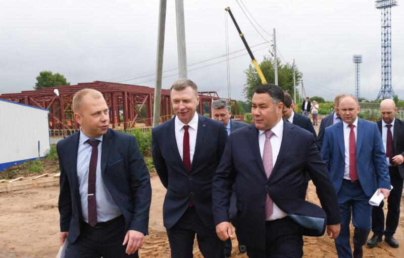 В Твери продолжаются работы по строительству двух спортивных гребных баз