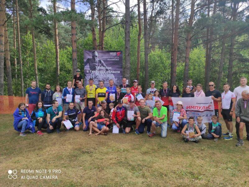 В соревнованиях по кросс-триатлону приняла участие команда Конаковского района