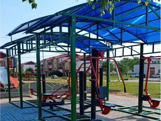 В Андреапольском округе появилась новая спортплощадка
