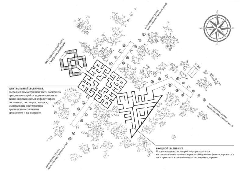 Опубликованы эскизы гигантского лабиринта, который построят в Тверской области